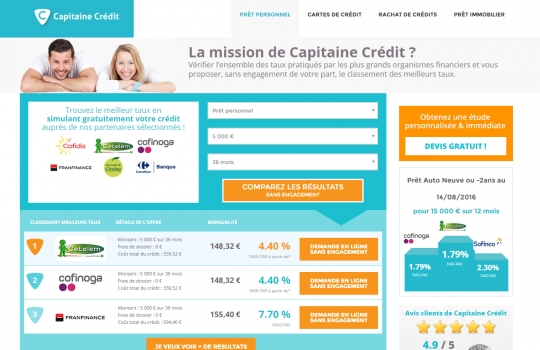 CAPITAINE CREDIT